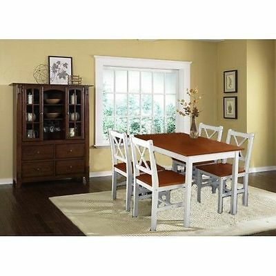 Pinewood Dining Table set with 4 wooden chairs