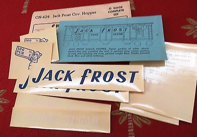 Champ Jack Frost Covered Hopper O Scale Decals