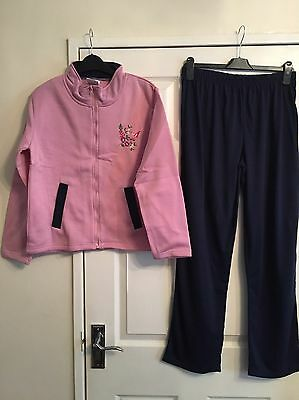 Ladies Tracksuit Size 10/12 Pink & Navy New In Wrapper