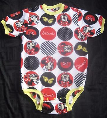 """Adult Baby 51"""" MINNIE MOUSE Fleece Bodysuit / Onesuit, by LL"""