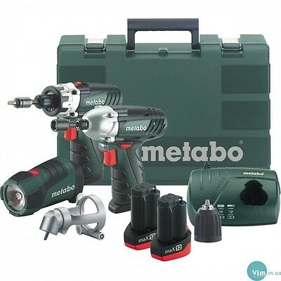 Metabo PowerMaxx12 Drill,Driver,Work Light Combo 2 x1.5ah Li-ion 6.85018.00 New