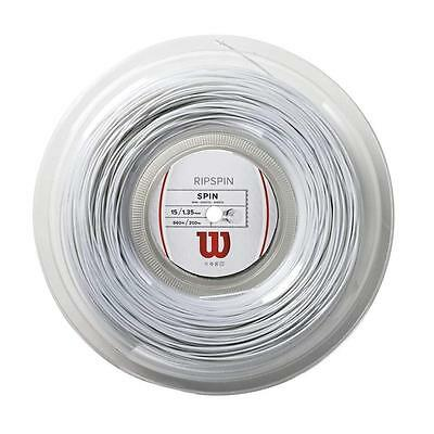 Wilson RipSpin White Tennis String Reel 15/1.35mm /660ft /200m RRP: £130