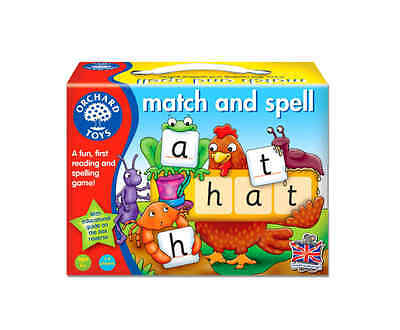 Orchard Toys Match and Spell Board Game Kids Educational Learning Gift Toy