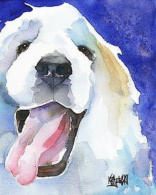 Great Pyrenees 11x14 signed art PRINT RJK from painting