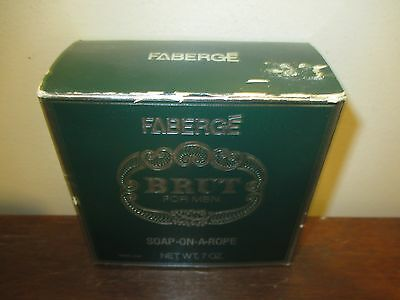 Vintage Brut 33 Faberge Soap On A Rope 7 oz Orignal Box