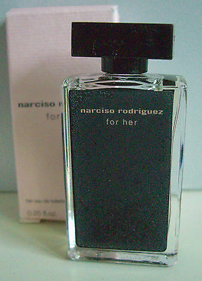 NARCISO RODRIGUES, For Her, EdT 7,5 ml,Luxus  Miniatur - Box, OVP, Selten, Rar
