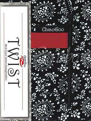 """ChiaoGoo ::TWIST 4"""" Red Lace Interchangeable:: Complete: US 2-15 (2.75-10.0 mm)"""