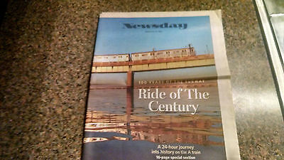 New York Subway NYC Transit Newspaper Newsday 100th Centennial Pullout Trains