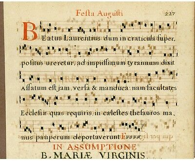 Exceptionally Rare Early Printed Sheet Music, c. 1650