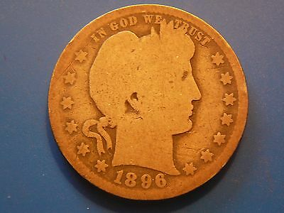 1896-o Barber quarter in G condition