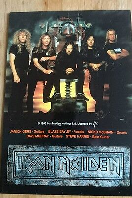 Iron Maiden BT Phonecard Limited Edition of 1000 only New UK 1996 X Factor