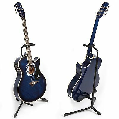 Details about  Lindo Black Guitar Tripod Floor Stand for Electric/ Acoustic