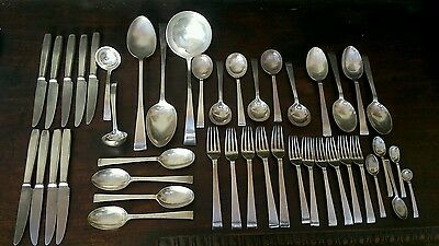 HEALS LONDON SILVER PLATE CUTLERY SERVICE MID c20TH