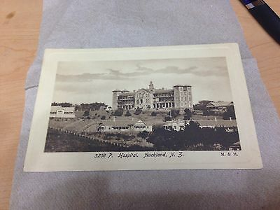 1908 Hospital   Auckland, New Zealand Early  Photo Post Card unmailed