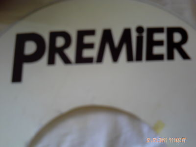 Premier type LARGEsize vinyl decal ONE COPY (black lettering only) Peel'n'Stick
