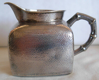 """ANTIQUE RUSSIAN 84 SILVER HAND HAMMERED  MILK JUG - 112 grams -  MOSCOW, BY """"PK"""""""