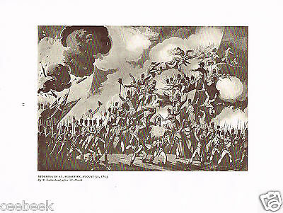Storming Of St. Sebastian, August 31, 1813 Antique Military Picture Print