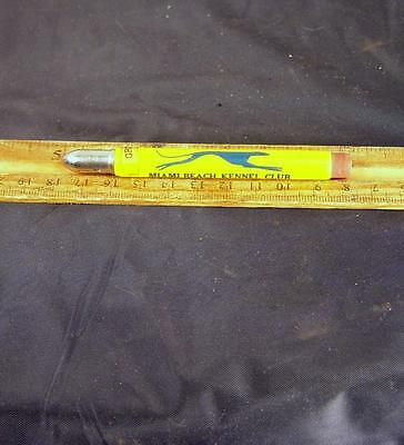 VINTAGE BULLET PENCIL MIAMI BEACH KENNEL CLUB DOG TRACK RACING Greyhound