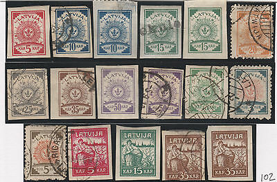 Latvia stamps from 1918-1919