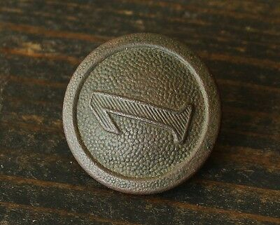 Original WWI Relic German Army Soldiers Shoulder Board Button ( Numbes 1 )