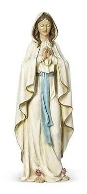 62291 Our Lady of Lourdes Blessed Mother Mary  Statue Painted Resin Stone 23 in