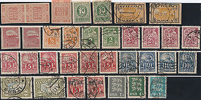 Estonia stamps 34 stamps from 1918-1935