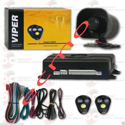 Viper 3100V 1-Way Security System CAR TRUCK ALARM SYSTEMS door lock/unlock NEW