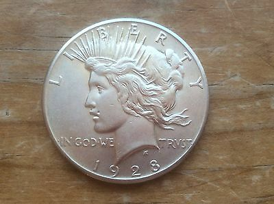 1928-P Peace silver dollar @@ key date must see @@