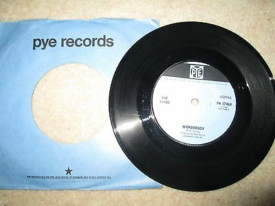 The Kinks..wonderboy..rare Uk First Issue Single Pye 7N 17468