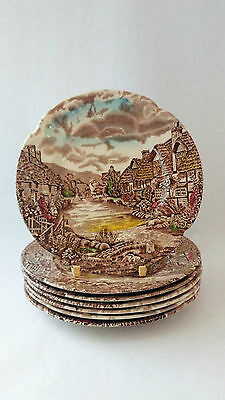 Johnson Brothers ENGLAND Olde English Countryside Set of 7 Bread & Butter Plates