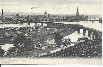 PERTH from Barnhill Early Perthshire Postcard Train Line
