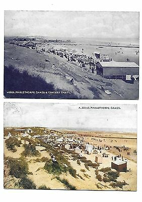 MABLETHORPE SANDS Lot 2 Early Lincolnshire Postcard