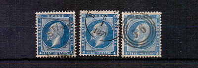 NORWAY 1856-60 4sk x THREE SHADES USED CAT £117