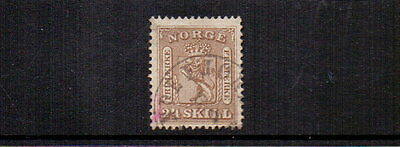 NORWAY 1863 24sk BROWN SG18 USED CAT £140