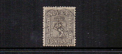 NORWAY 1867 1sk GREY-BLACK SG22 USED CAT £55