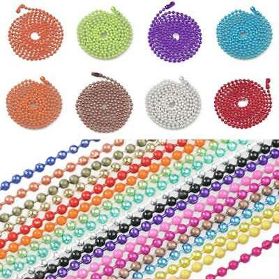 28Inch Ball Chain Necklace Bead Connector 1.5/2.4mm 18 Colour Wholesale CA