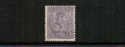 NORWAY 1867 3sk LILAC SG26 USED CAT £150