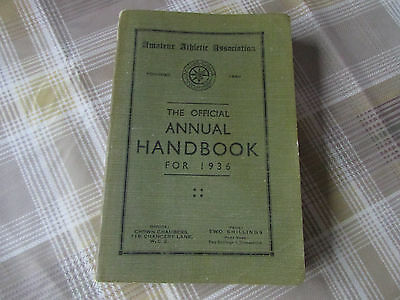 Amateur ATHLETIC Association AAA Official Annual Handbook for 1936