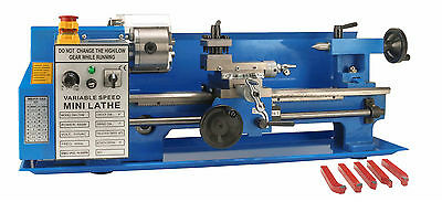 Erie Tools® 7x14 Mini Metal Bench Top Variable Speed Lathe and Cutter Kit