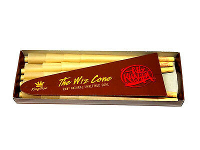 Wiz Khalifa Raw The Wiz Cone King Size - 20 Per Pack - New Unrefined - Authentic