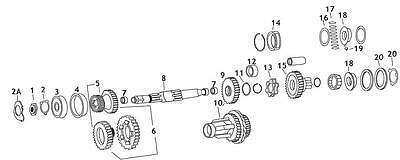 Andrews 4th Gear Mainshaft For 4-speed Big Twin (15) - 204260