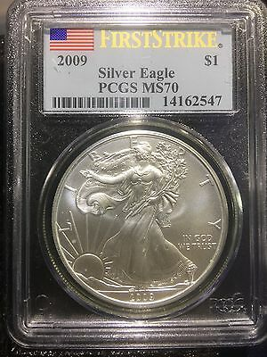 2009 $1 Silver American Eagle 1oz PCGS MS 70 First Strike