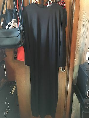 Adult Black Halloween Costume Pull Over Cloak/Robe Scream One Size Ghost Face
