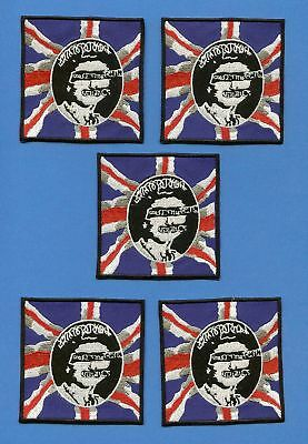 5 Lot Sex Pistols Iron On Jacket Hoodie Backpack Patches Music Punk Rock Crests