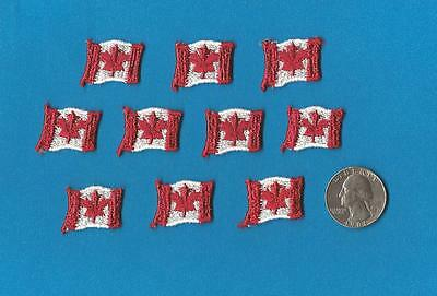 10 Lot Sew On Vintage Canada Canadian Flag Small Patches Hat Shirt Crests