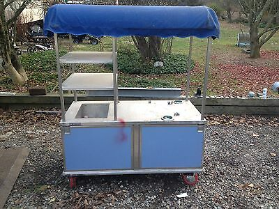 coffee cater cart on wheels Good Used Shape Local Pick Up Only