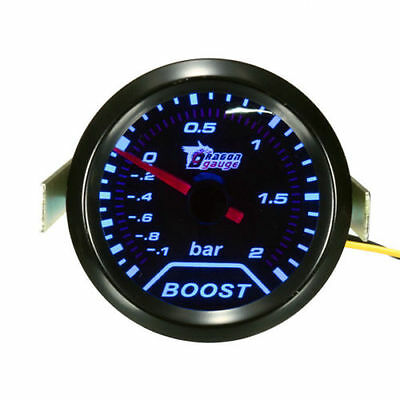 2inch 52mm Universal Car Auto LED Turbo Boost Vacuum Press Gauge Meter Bar Point