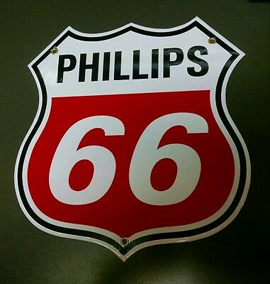 Phillips 66 Gasoline Gas / Oil Gasoline Porcelain Sign