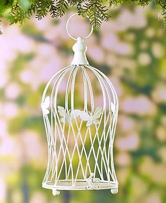 The Lakeside Collection Decorative Metal Birdcages - White