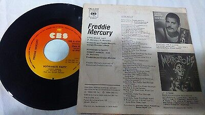 "7"" Freddie Mercury/queen - Love Kills -Written In Spanish Film Metropolis"